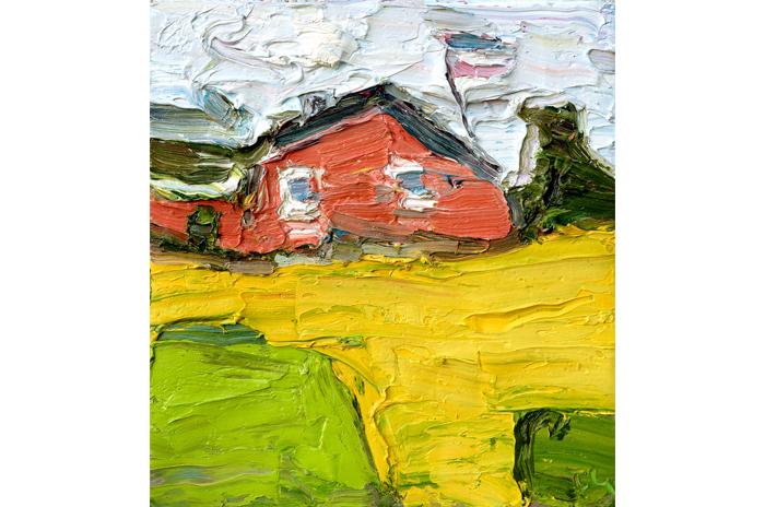 """Klaus Fußmann (*1938) """"Landschaft mit Gehöft"""""""