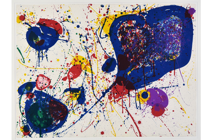 """""""LIGHT VIOLET """", 1963, Farblithographie, 56 x 76 cm, vom Künstler signiert"""