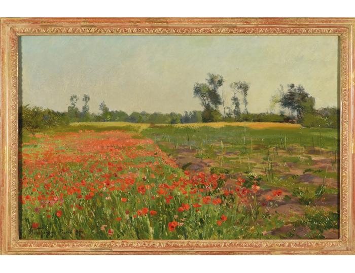 """Fritz Wucherer (1873 - 1948), """"Mohnblumenfeld"""""""
