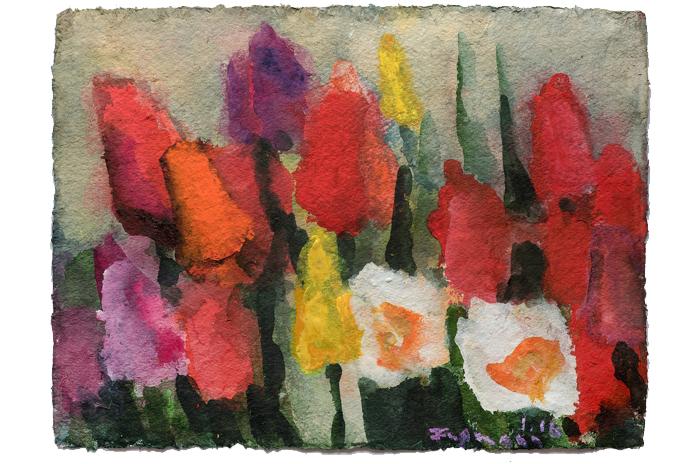 """Klaus Fußmann (*1938) """"Tulpen"""""""
