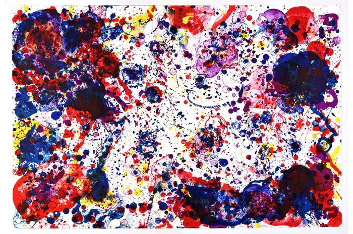 """""""FOR JAMES KIRSCH"""" 1972, Farblithographie, 71 x 104 cm, vom Kuünstler signiert"""