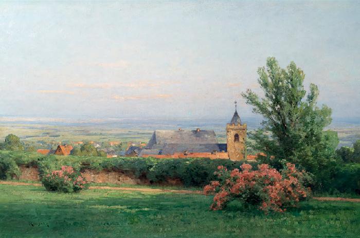 """Nelson G. Kinsley (1863-1945), """"Kronberg mit Johanniskirche"""""""